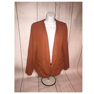 Structured Brown Blazer Forever 21